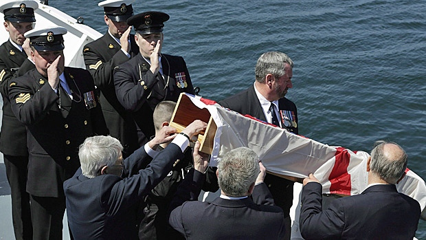 canadian burial at sea
